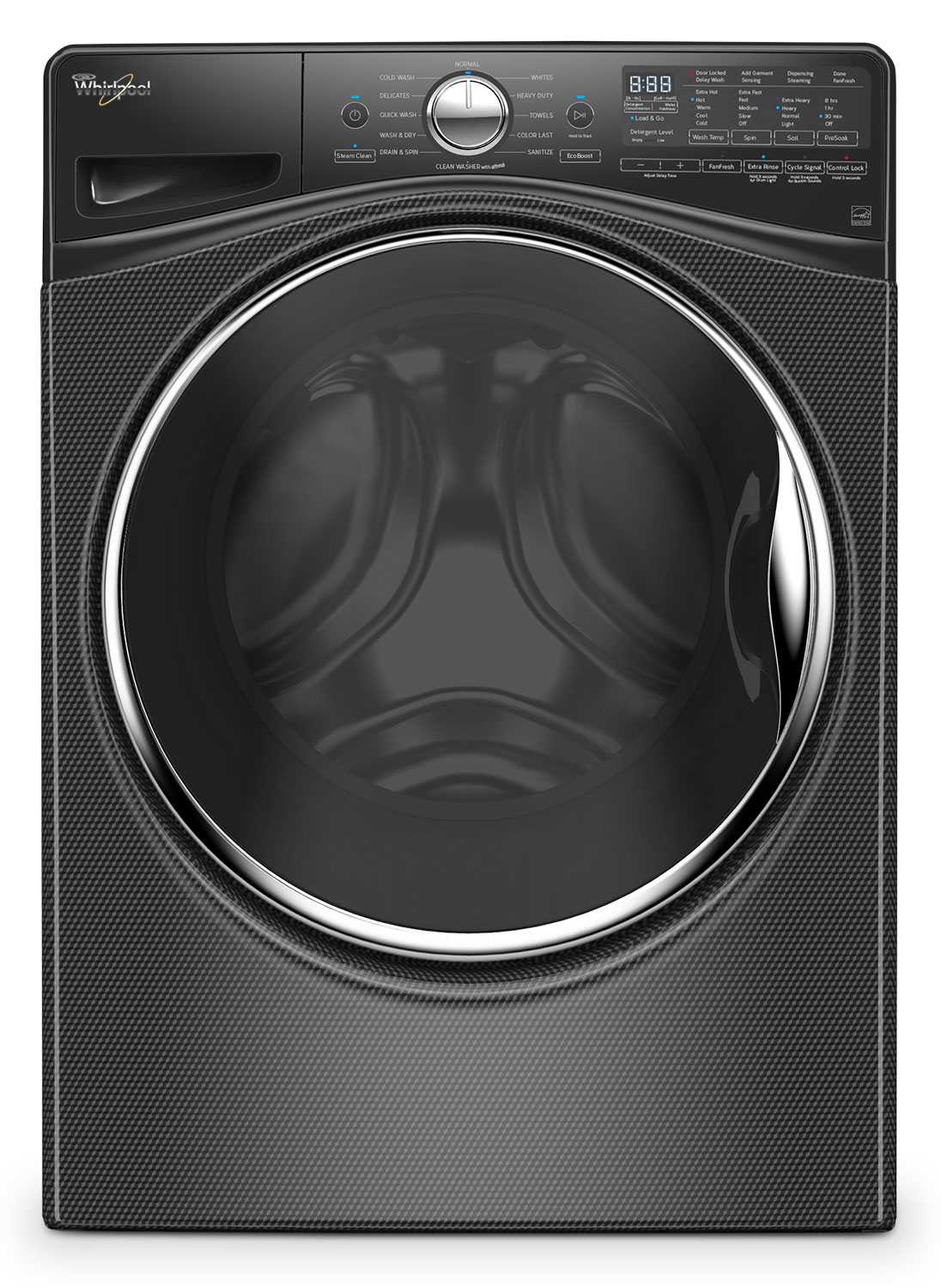 Washers and Dryers - Whirlpool Black Diamond Front-Load Washer (5.2 Cu. Ft. IEC) - WFW92HEFBD