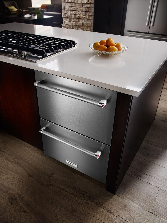 Kitchenaid Stainless Steel Compact Refrigerator W Freezer