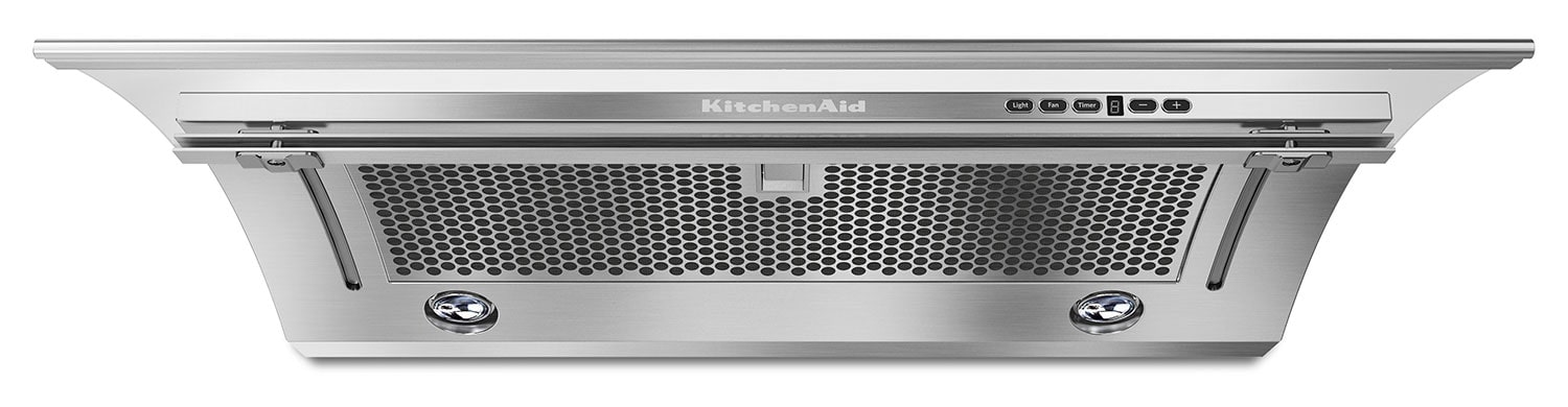 "Cooking Products - KitchenAid Stainless Steel 36"" 400 CFM Slide-Out Range Hood - KXU2836YSS"
