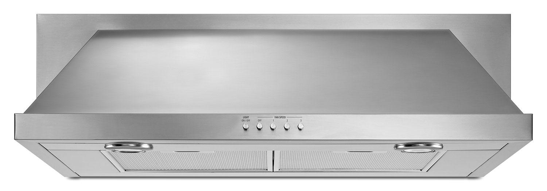 "Cooking Products - KitchenAid Stainless Steel 30"" 400 CFM Range Hood - UXT5530AAS"