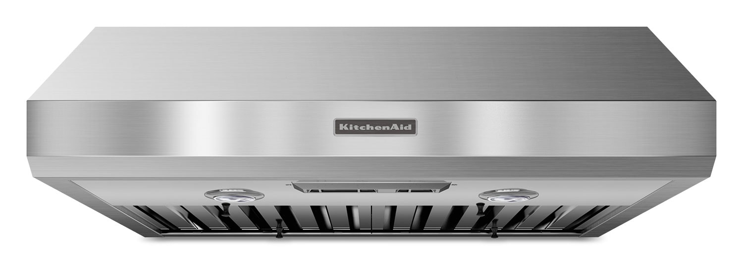 "Cooking Products - KitchenAid Stainless Steel 30"" 600 CFM Range Hood w/ Slide Control - KXU8030YSS"