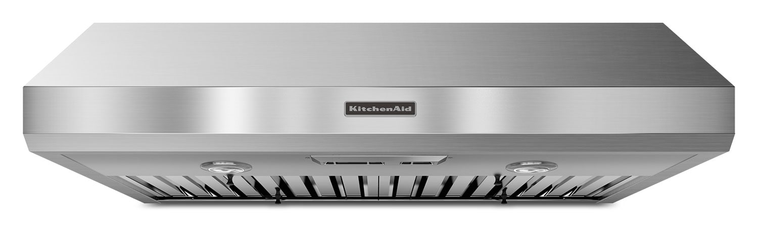 "Cooking Products - KitchenAid Stainless Steel 36"" 600 CFM Range Hood w/ Slide Control - KXU8036YSS"