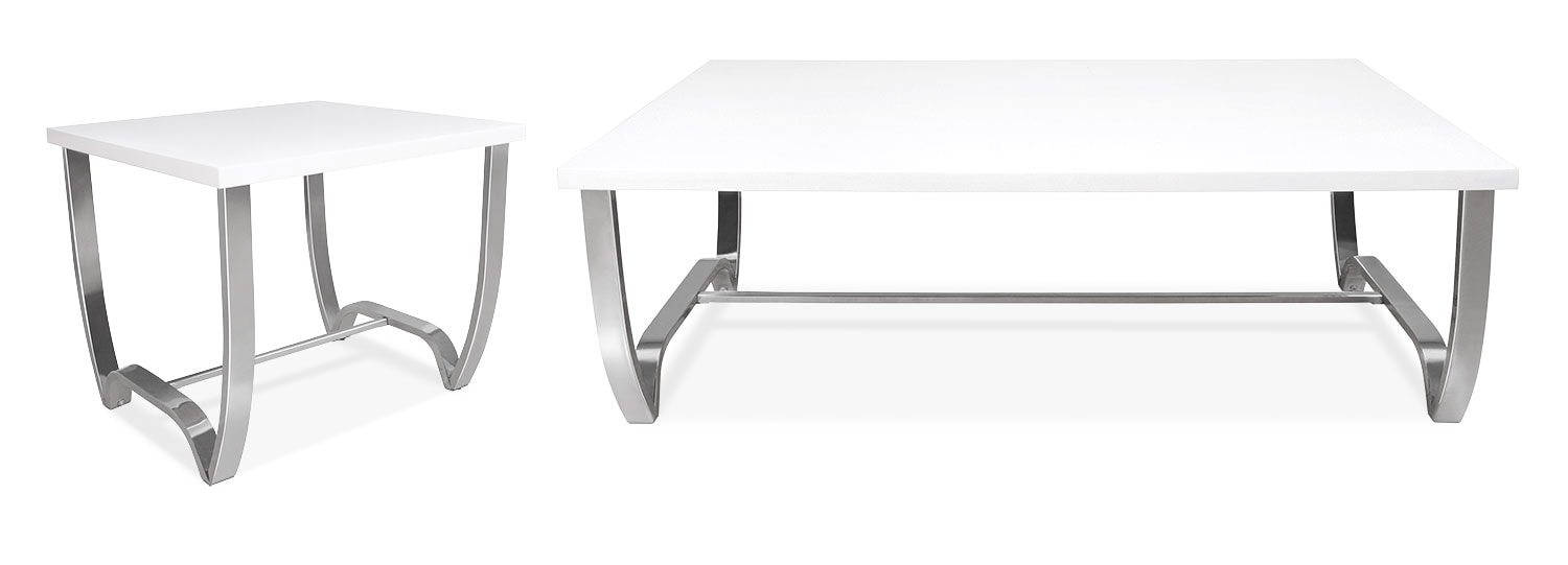 Accent and Occasional Furniture - Dalian 2-Piece Coffee and End Table Package