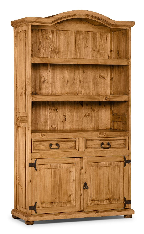 Accent and Occasional Furniture - Santa Fe Rusticos Solid Pine Provenzal Bookcase