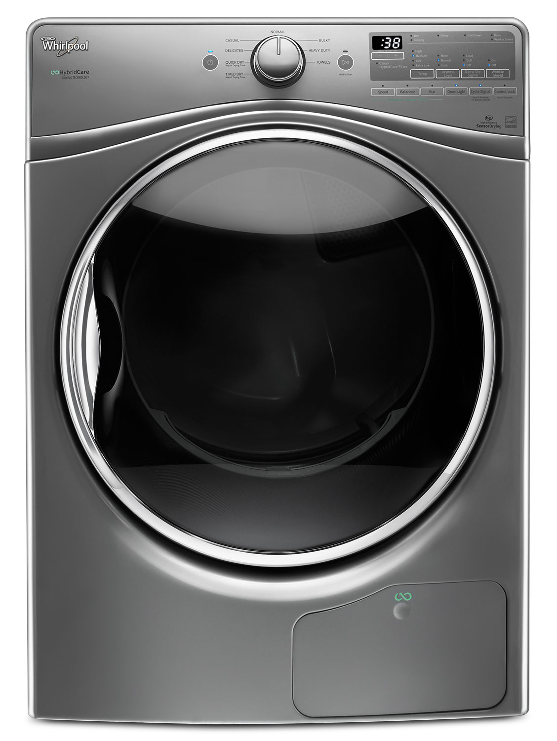 Whirlpool Chrome Shadow Dryer (8.5 Cu. Ft.) - YWED9290FC