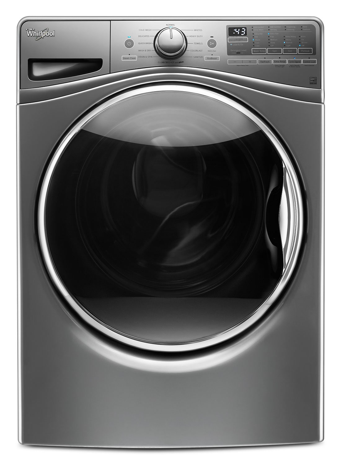 Washers and Dryers - Whirlpool Chrome Shadow Front-Load Washer (4.8 Cu. Ft. IEC) - WFW9290FC