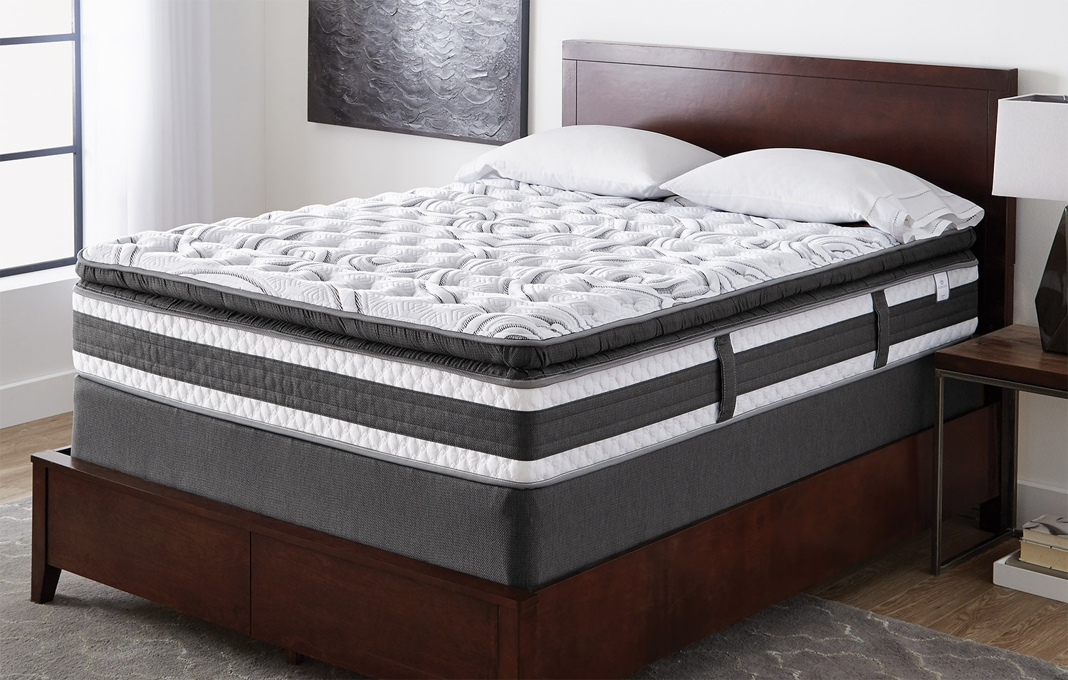 Mattresses and Bedding - Serta iCollection Lynncroft Pillow-Top Firm Queen Mattress Set