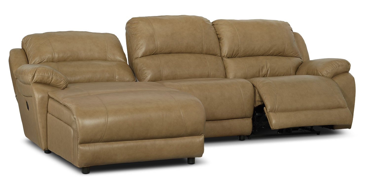 Marco genuine leather 3 piece sectional with left facing for 3 piece sectional sofa with chaise