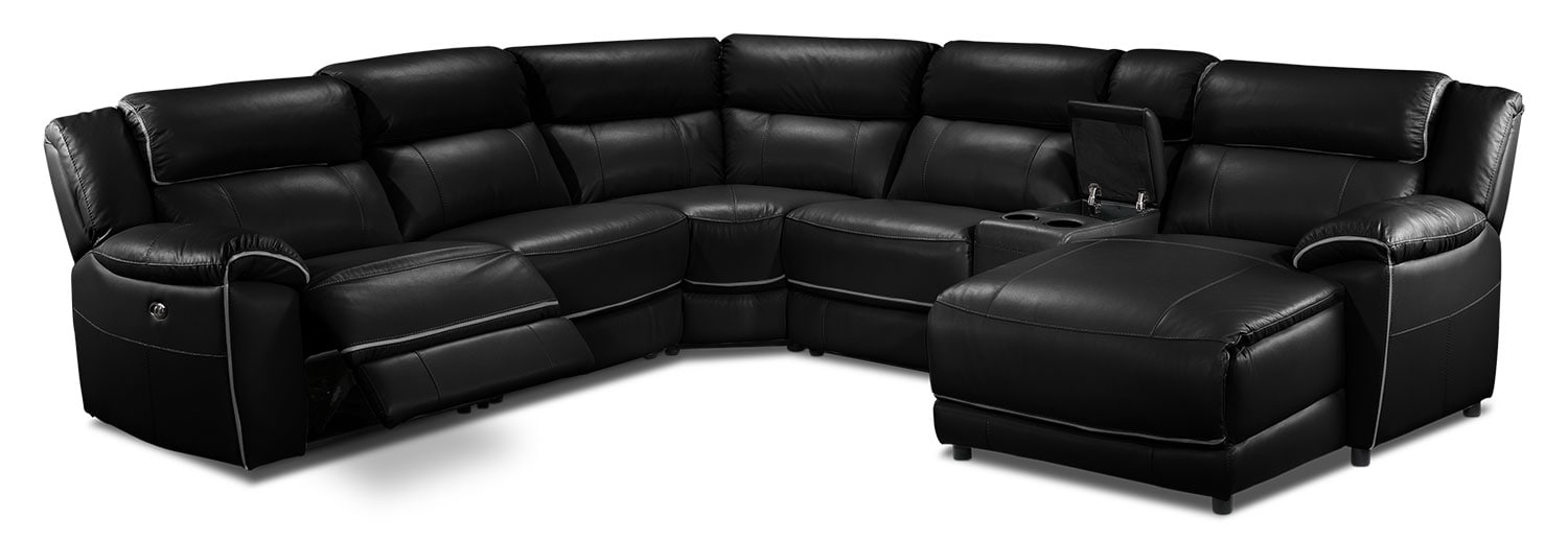 Holton 6 Pc. Sectional - Black