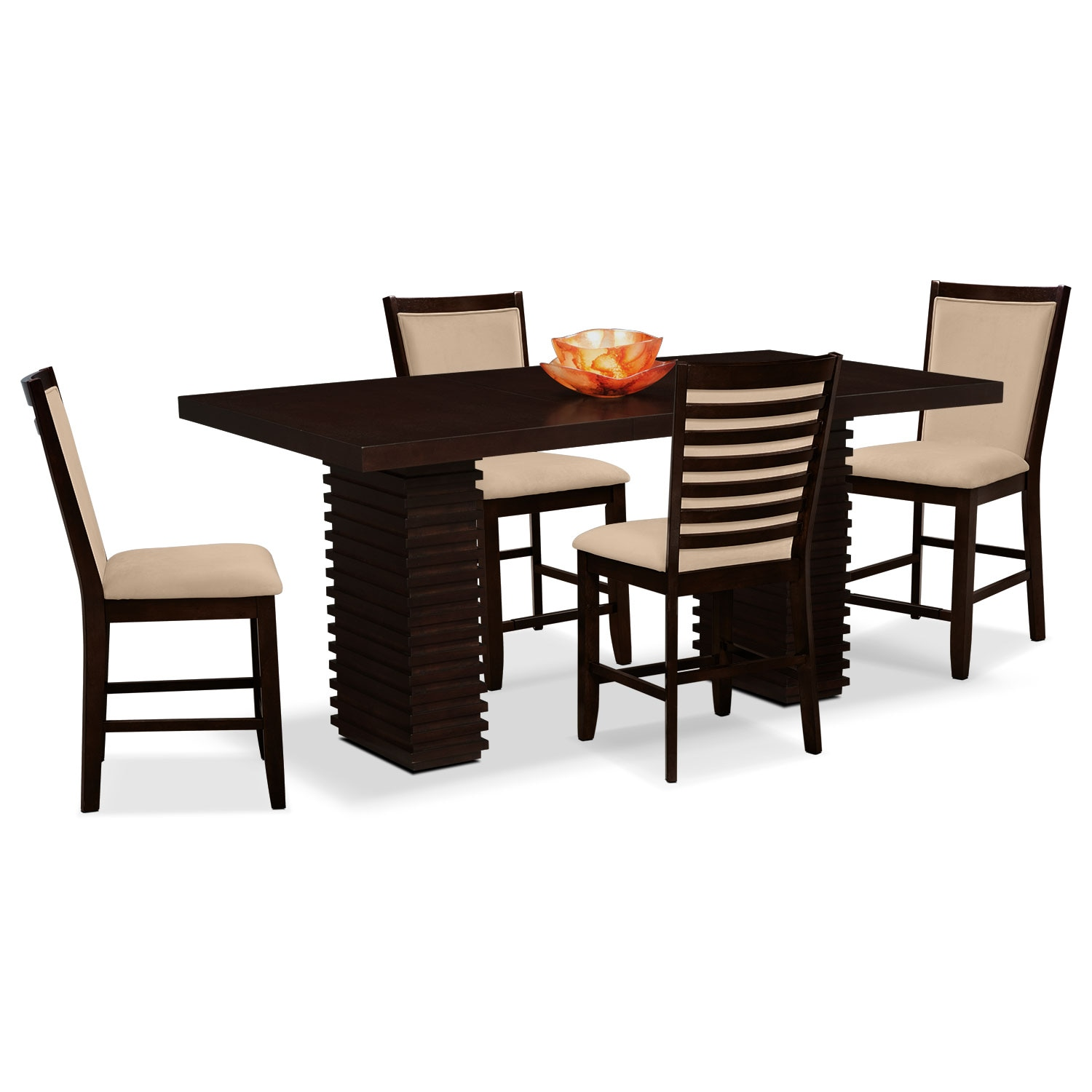 room furniture paragon counter height table and 4 chairs camel