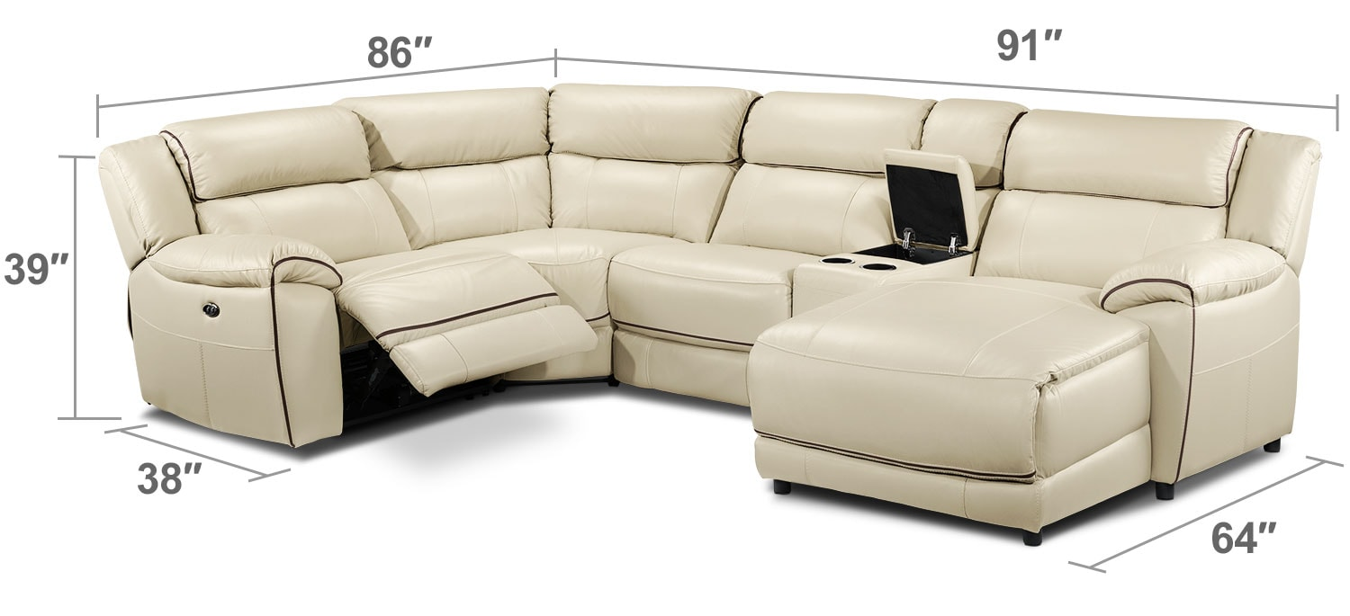 Living Room Furniture - Holton 5-Piece Sectional - Pebble