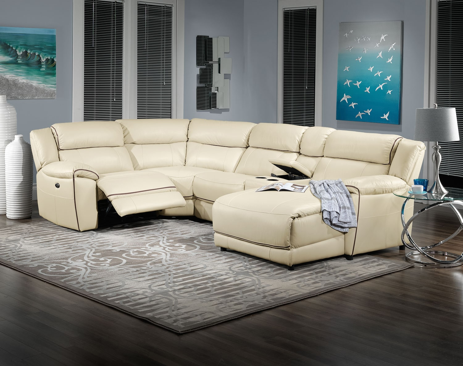 Holton 5 piece sectional pebble leon 39 s for 5 piece living room packages