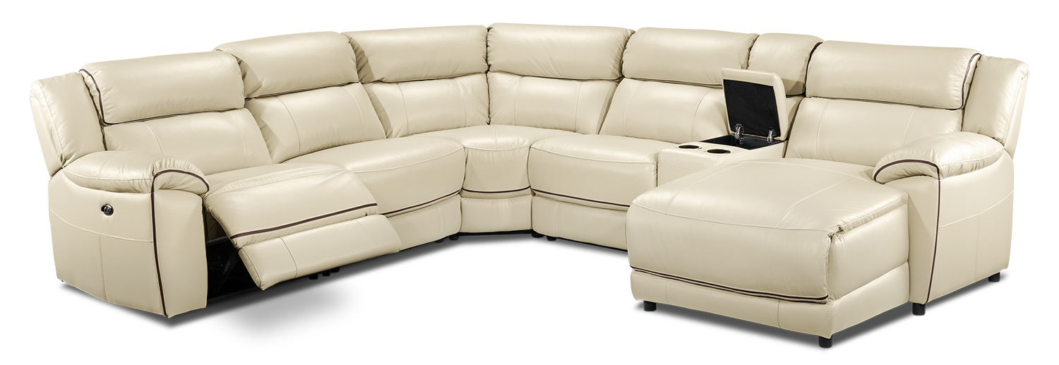 Living Room Furniture - Holton 6-Piece Sectional - Pebble