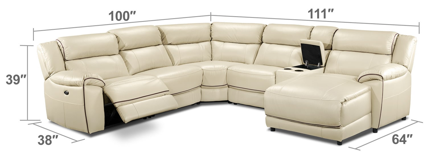 Living Room Furniture - Holton 6 Pc. Sectional - Pebble