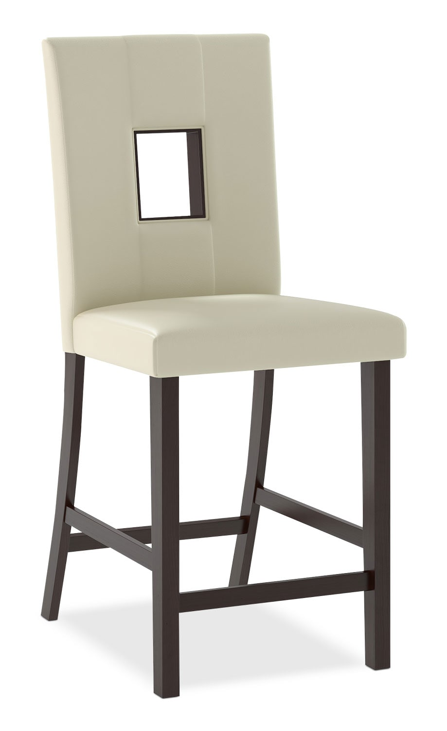 Dining Room Furniture - Bistro Counter-Height Dining Chair – White