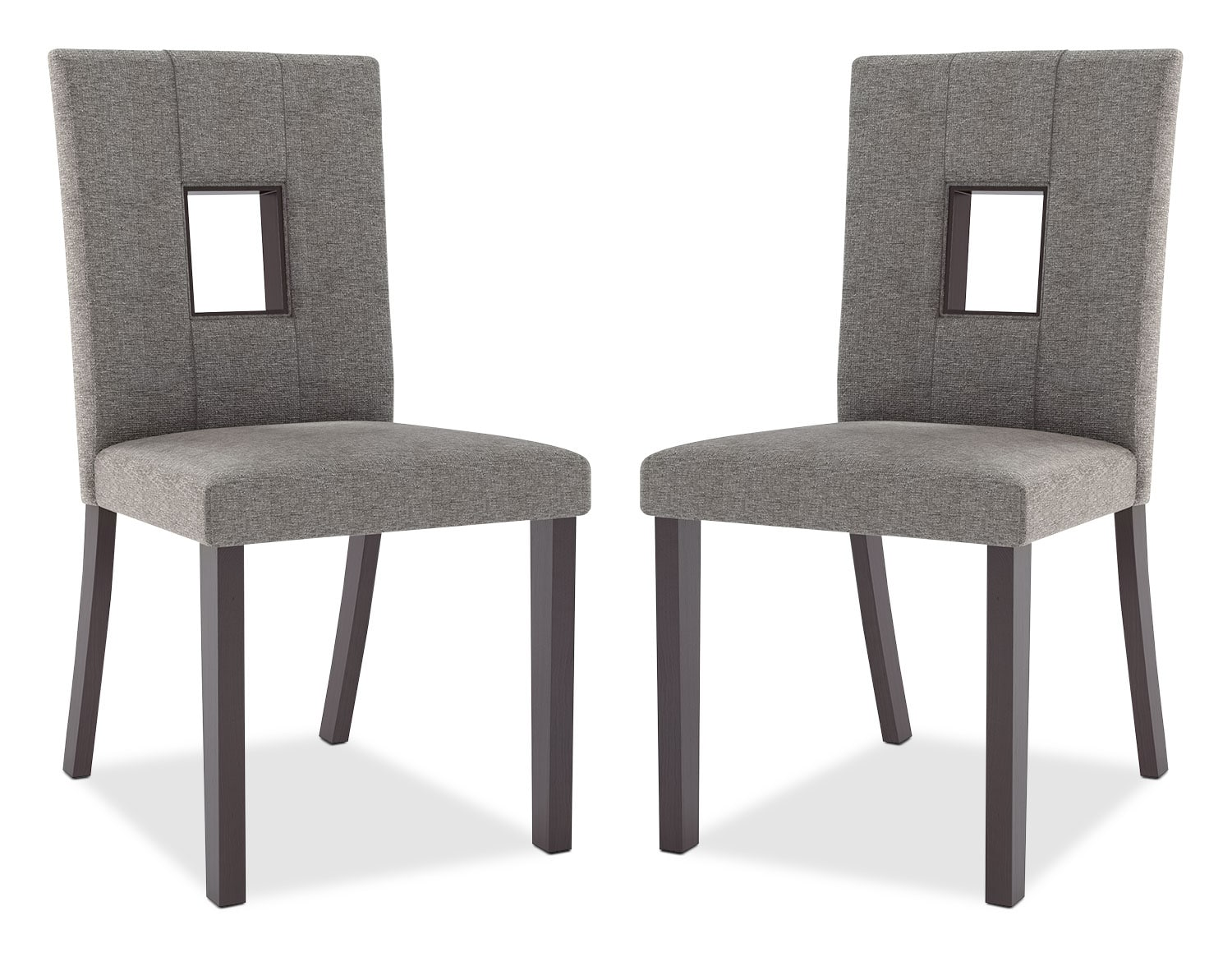 bistro counter height dining chair set of 2 grey the