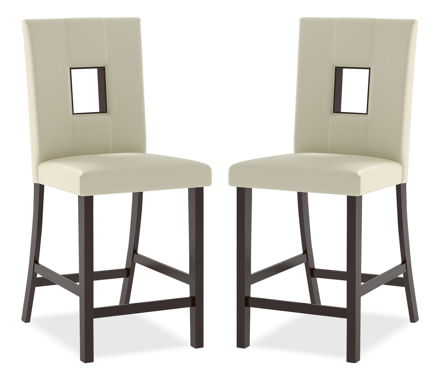 Bistro Counter-Height Dining Chair, Set of 2 – White
