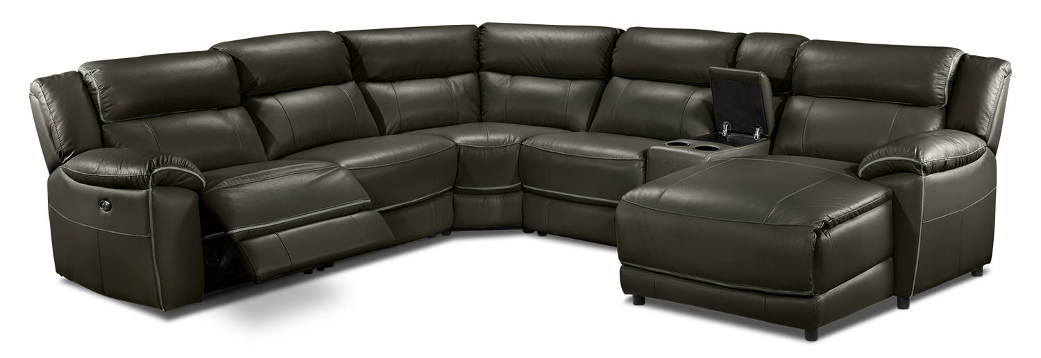 Holton 6 Pc. Sectional - Charcoal Grey
