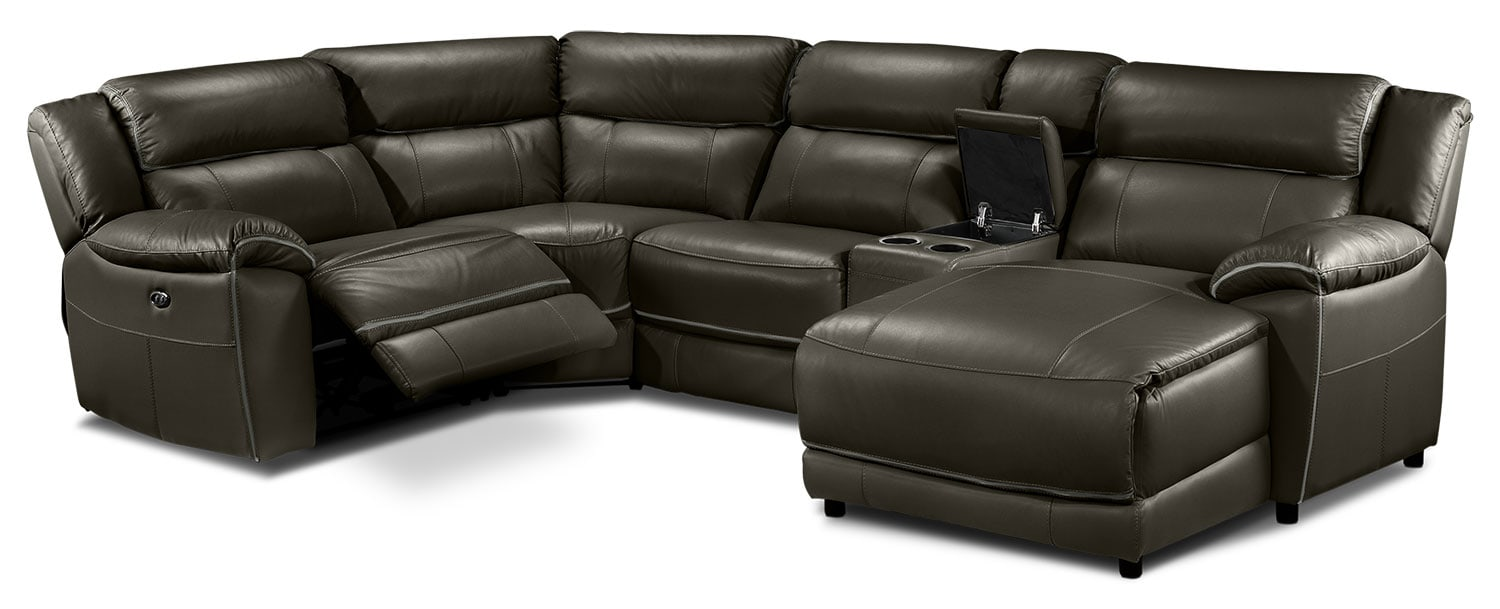 Holton 5 Pc. Sectional - Charcoal Grey