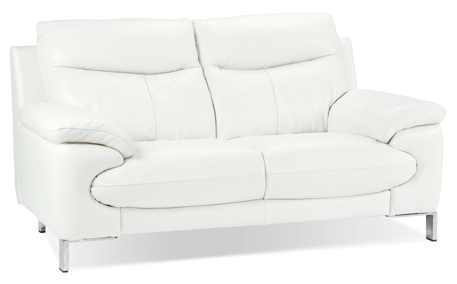 Living Room Furniture - Anika Loveseat - White