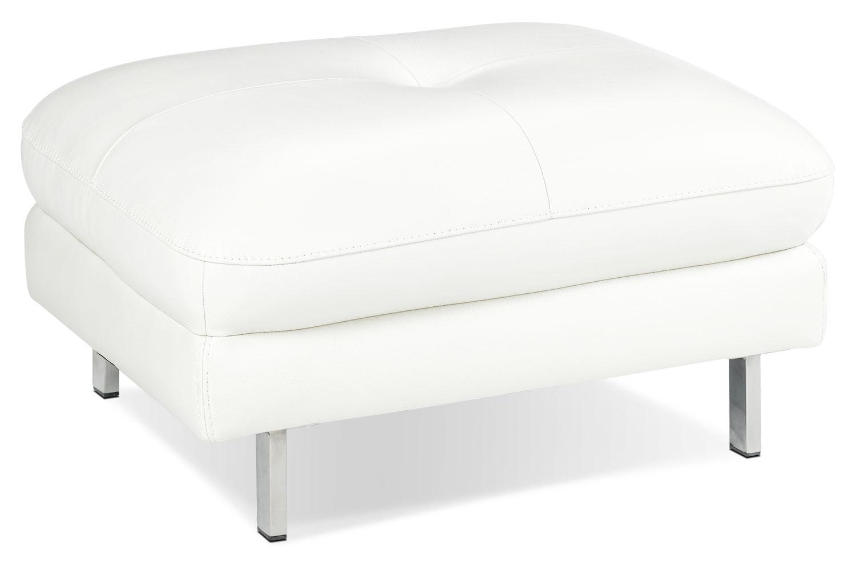 Living Room Furniture - Anika Ottoman - White