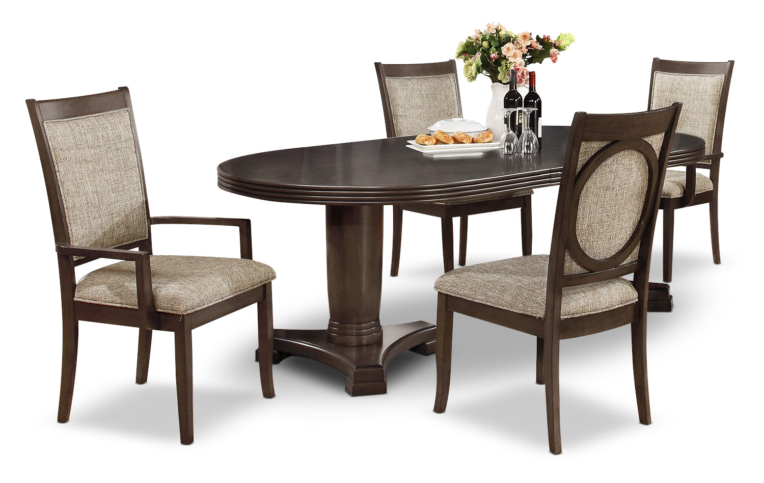 Dining Room Furniture - Beaumont 5-Piece Dining Package