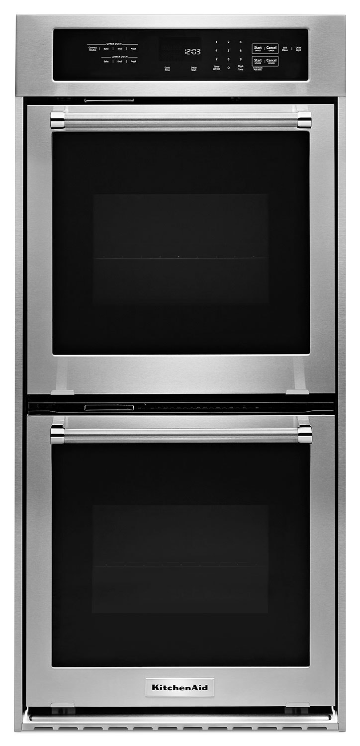 Cooking Products - KitchenAid 6.2 Cu. Ft. Double Wall Oven – KODC304ESS