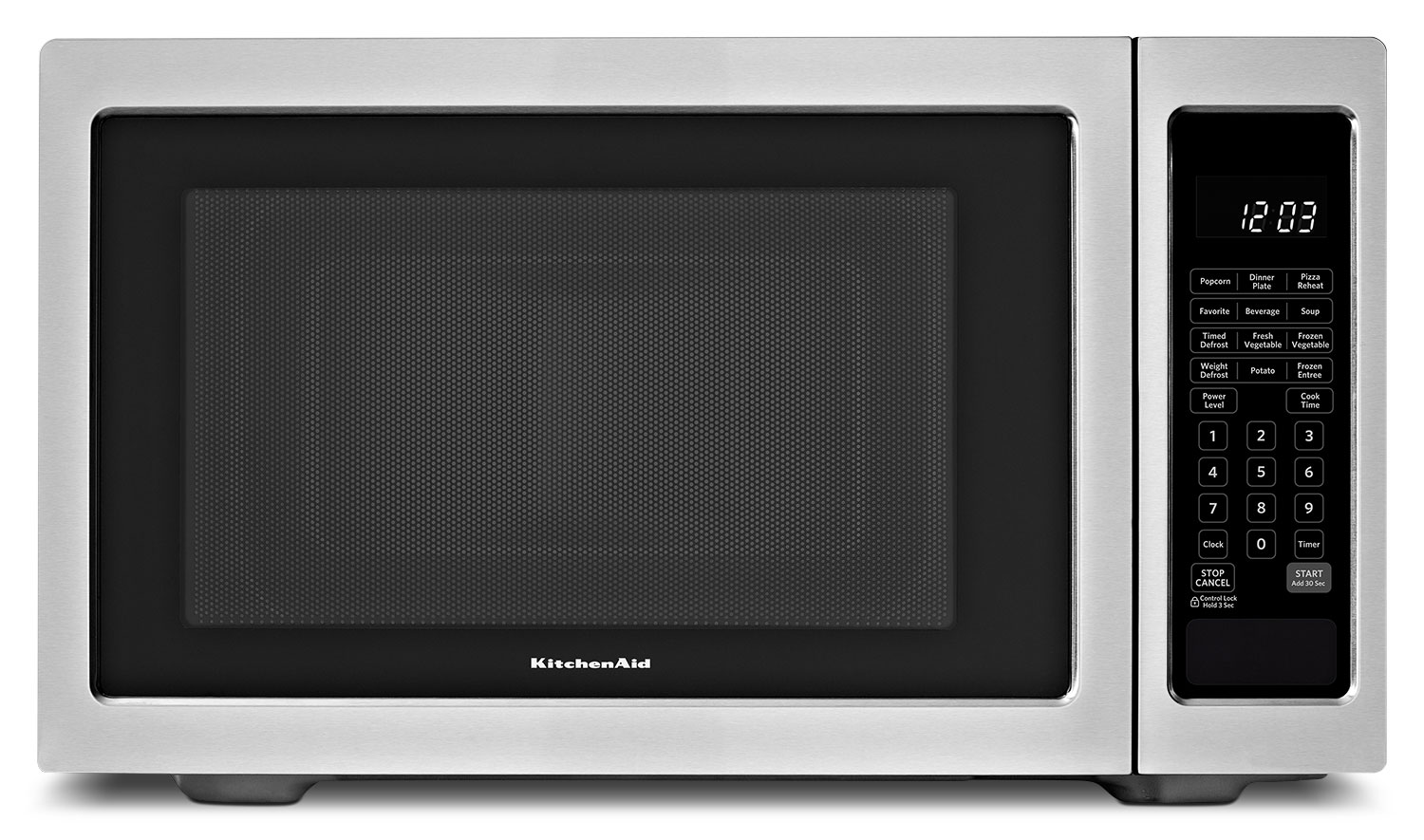 Cooking Products - KitchenAid Stainless Steel Countertop Microwave (1.6 Cu. Ft.) - YKCMS1655BS