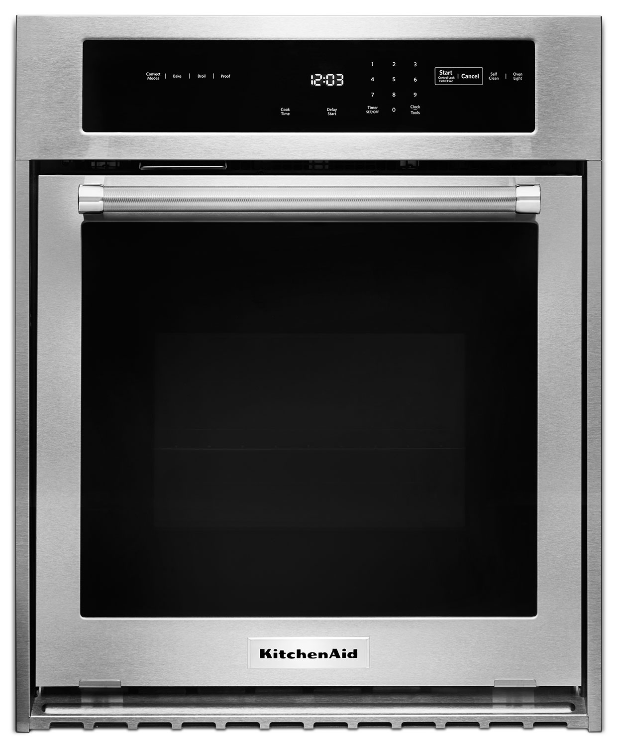 Cooking Products - KitchenAid Stainless Steel Electric True Convection Wall Oven (3.1 Cu. Ft.) - KOSC504ESS