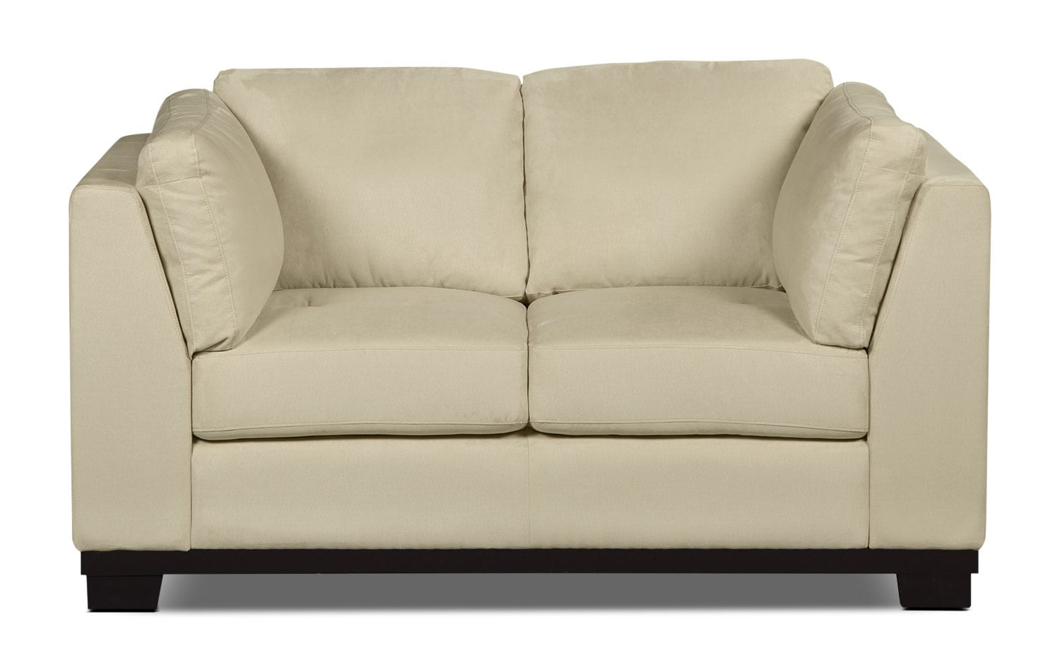 Living Room Furniture - Oakdale Microsuede Loveseat – Mushroom