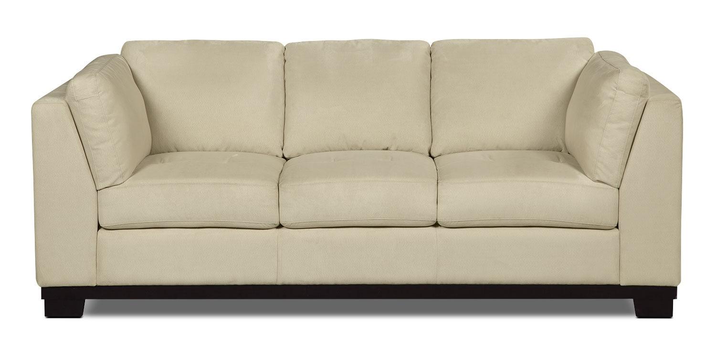 Oakdale Microsuede Sofa – Mushroom