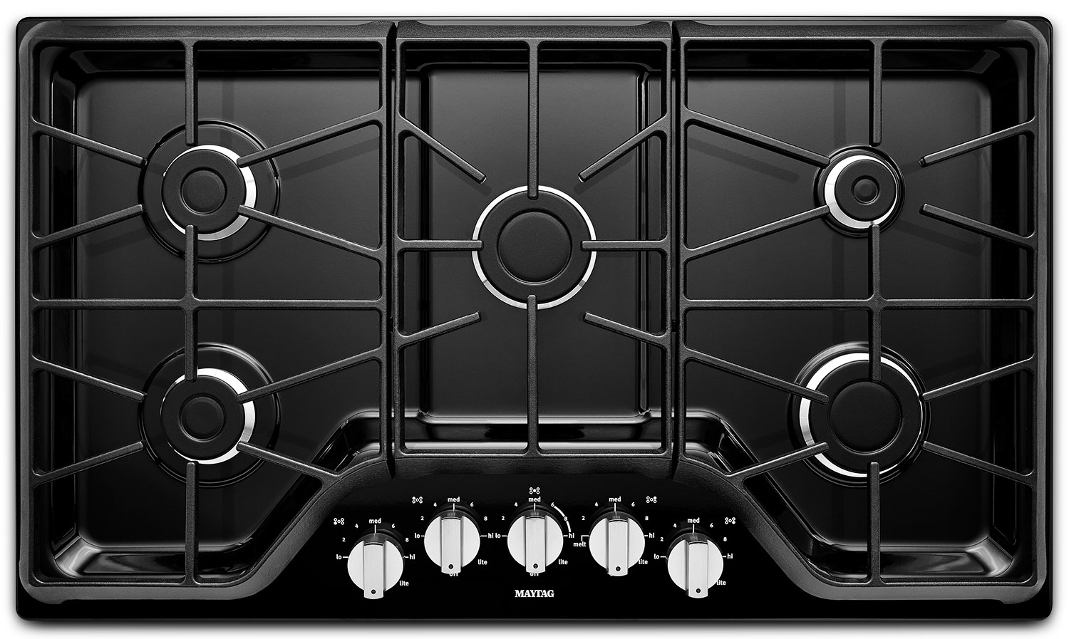 Maytag Black Gas Cooktop - MGC7536DS