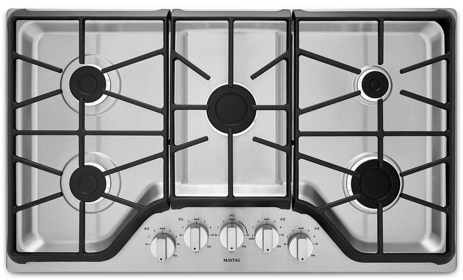 Cooking Products - Maytag Stainless Steel Gas Cooktop - MGC7536DS