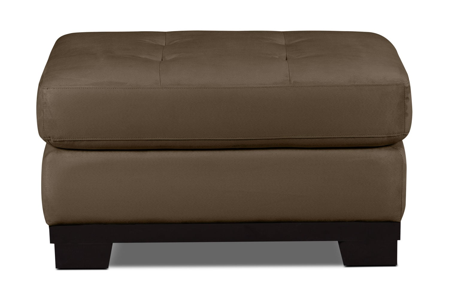 Living Room Furniture - Oakdale Microsuede Ottoman – Cocoa
