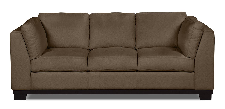 Oakdale Microsuede Sofa – Cocoa