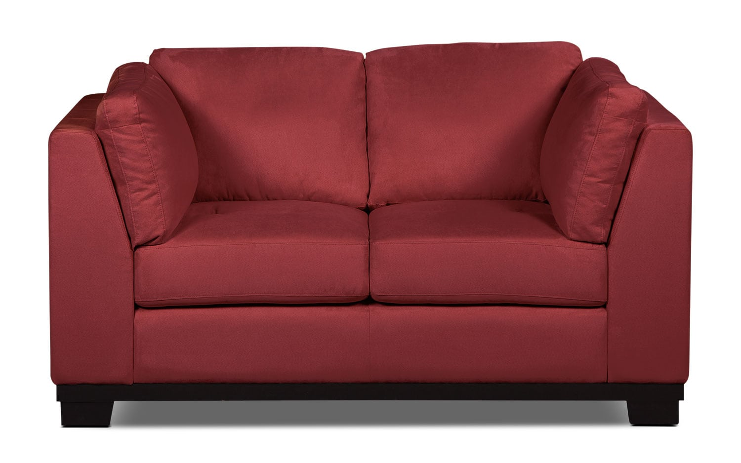 Living Room Furniture - Oakdale Microsuede Loveseat – Red