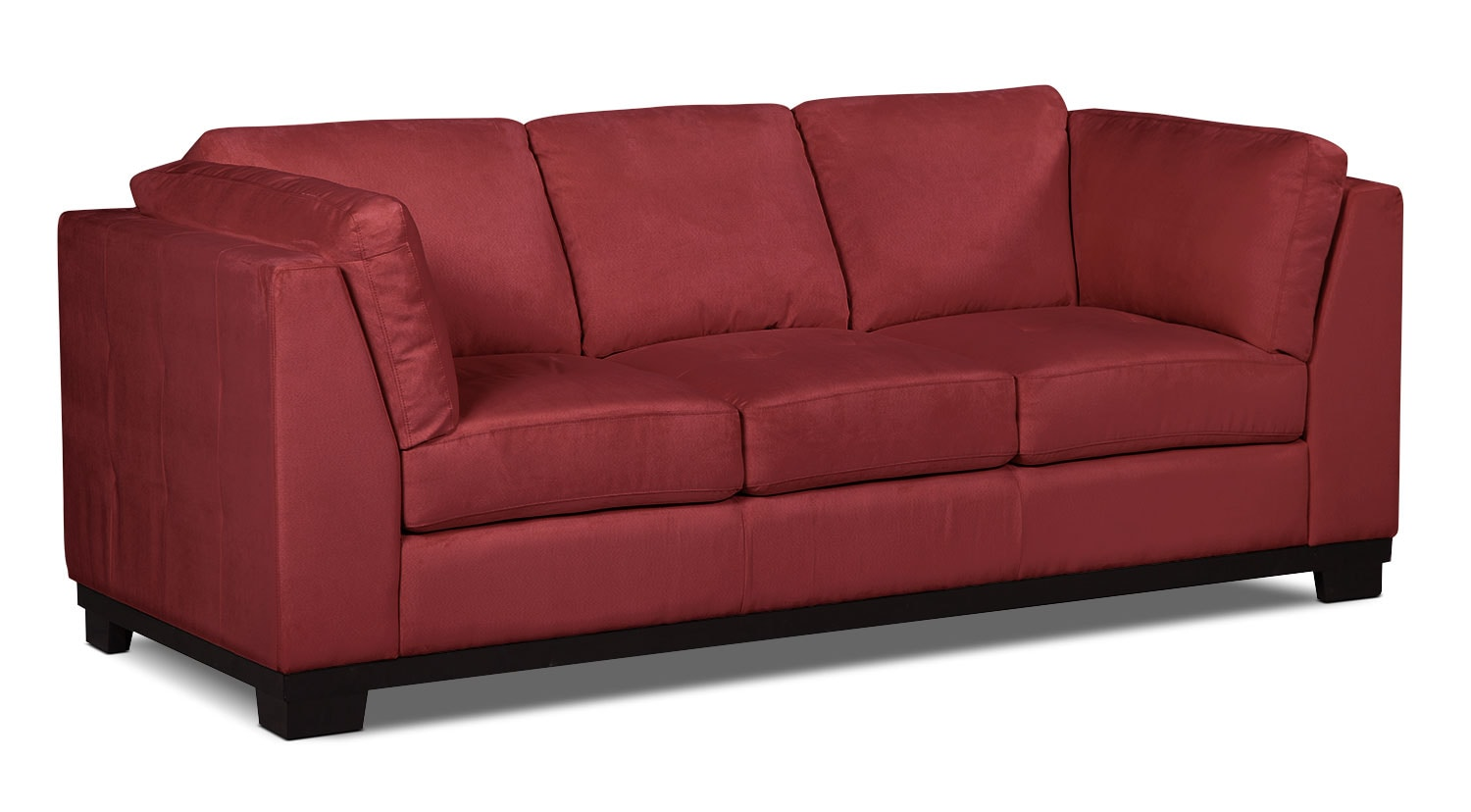 Oakdale Microsuede Sofa Red The Brick