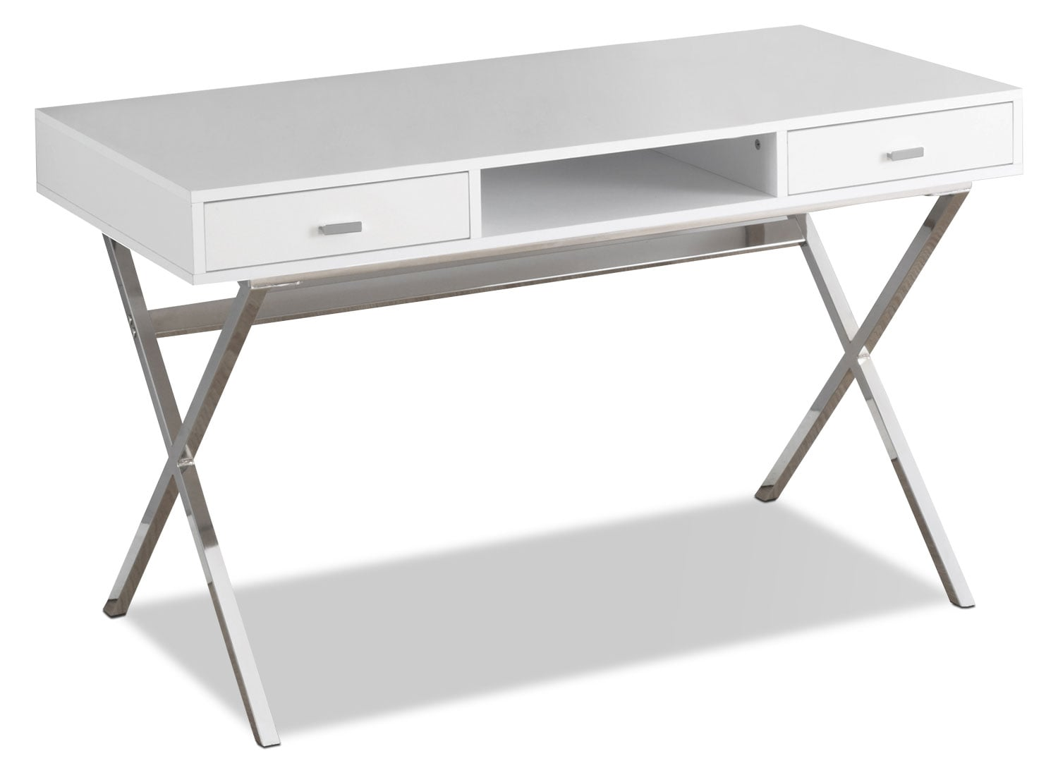 Home Office Furniture - Catonia Computer Desk – Glossy White