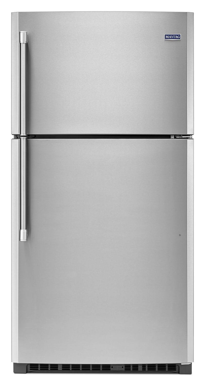 [Maytag Stainless Steel Top-Freezer Refrigerator (21.2 Cu. Ft.) - MRT711BZDM]