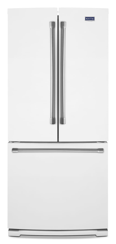 [Maytag White French-Door Refrigerator (19.7 Cu. Ft.) - MFB2055DRH]