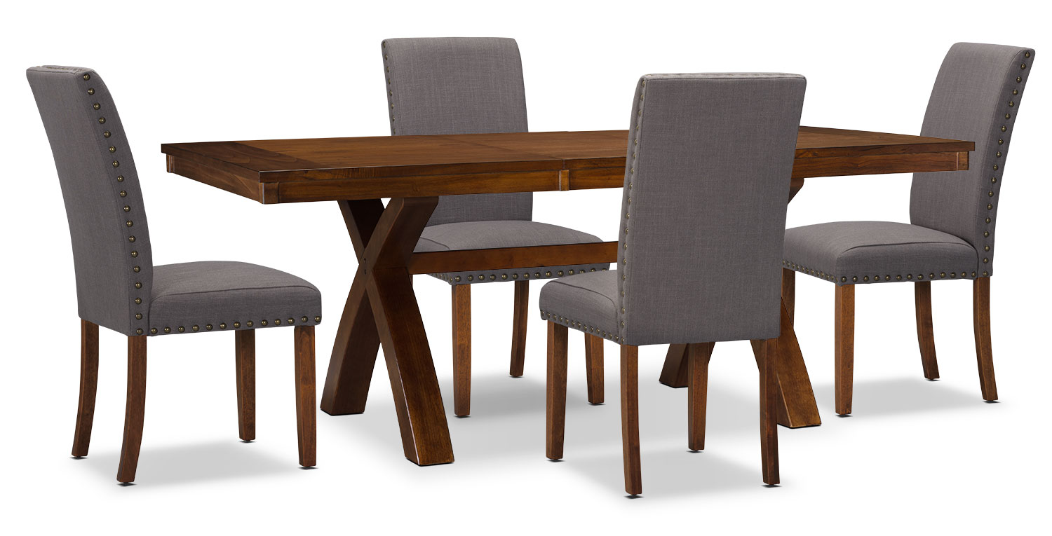 Dining Room Furniture - Mindy 5-Piece Dining Package – Charcoal