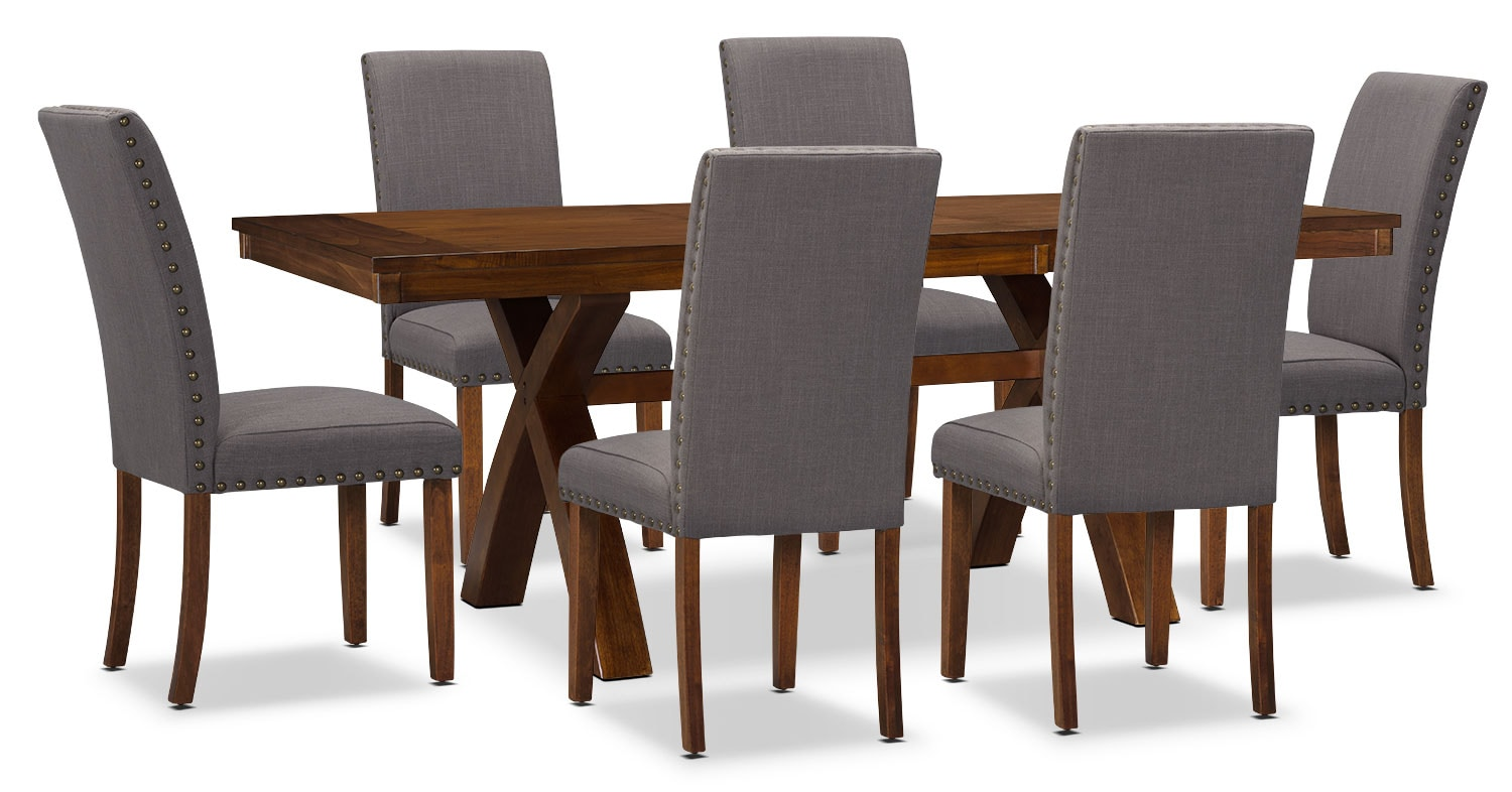 Dining Room Furniture - Mindy 7-Piece Dining Package – Charcoal