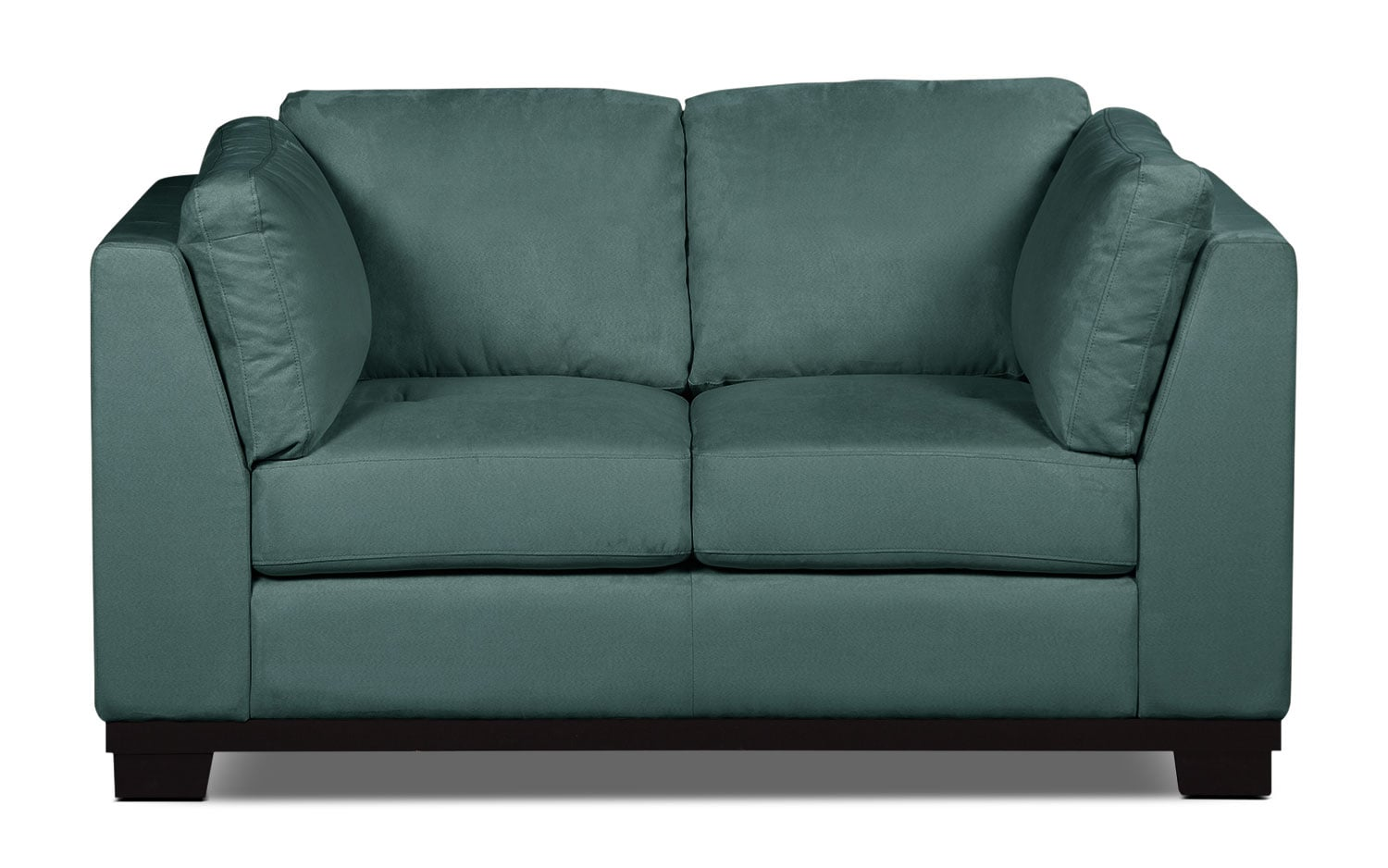 Living Room Furniture - Oakdale Microsuede Loveseat – Azure