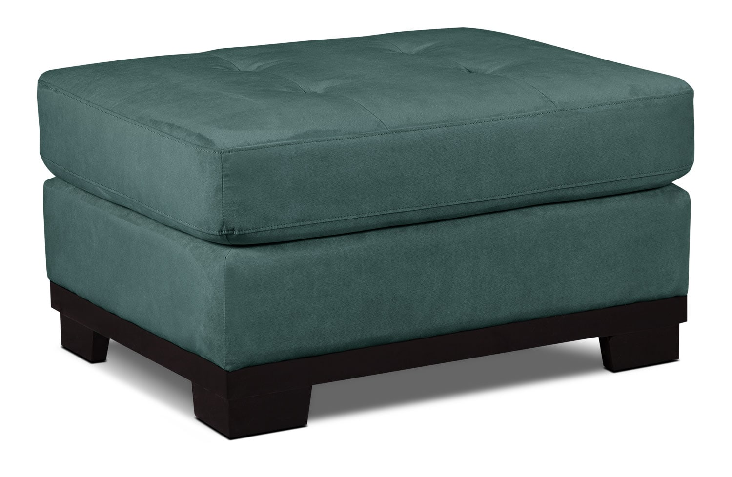 Living Room Furniture - Oakdale Microsuede Ottoman – Azure