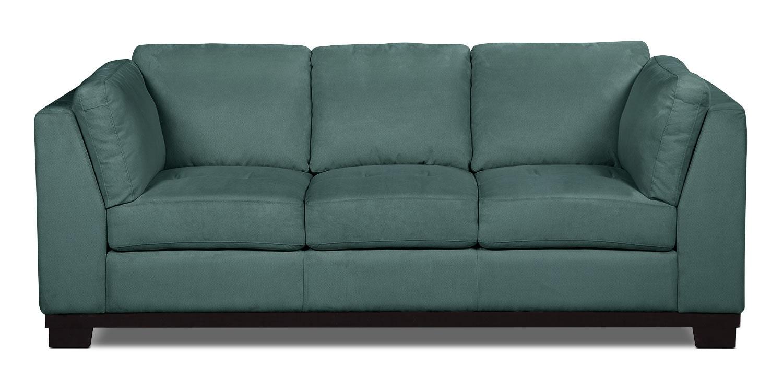 Oakdale Microsuede Sofa – Azure