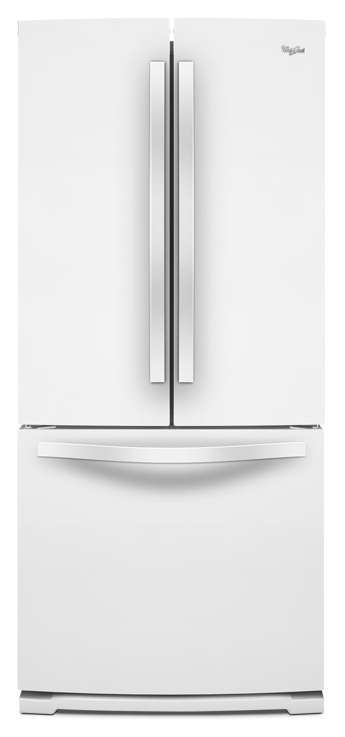 Refrigerators and Freezers - Whirlpool White French-Door Refrigerator (19.6 Cu. Ft.) - WRF560SFYW