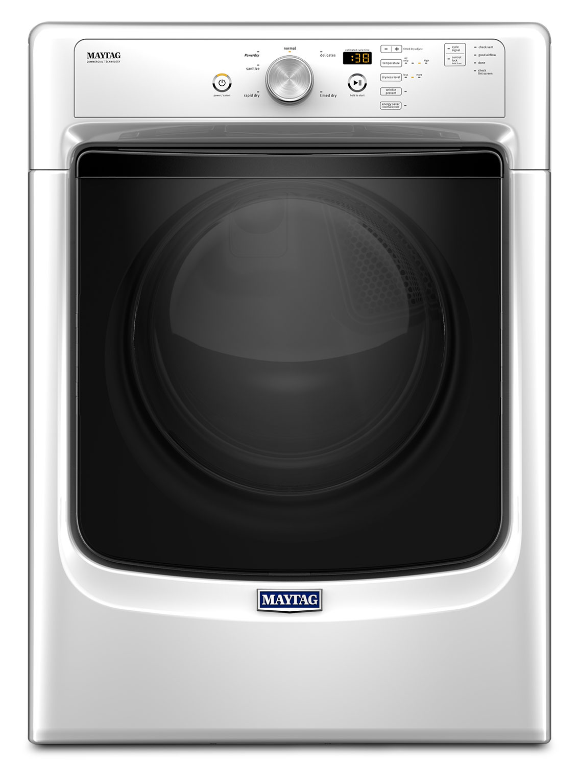 Washers and Dryers - Maytag White Electric Dryer (7.4 Cu. Ft.) - YMED3500FW