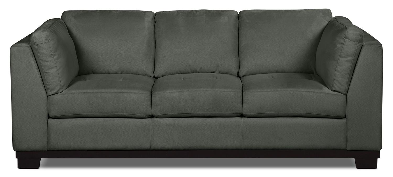 Oakdale Microsuede Sofa Grey The Brick