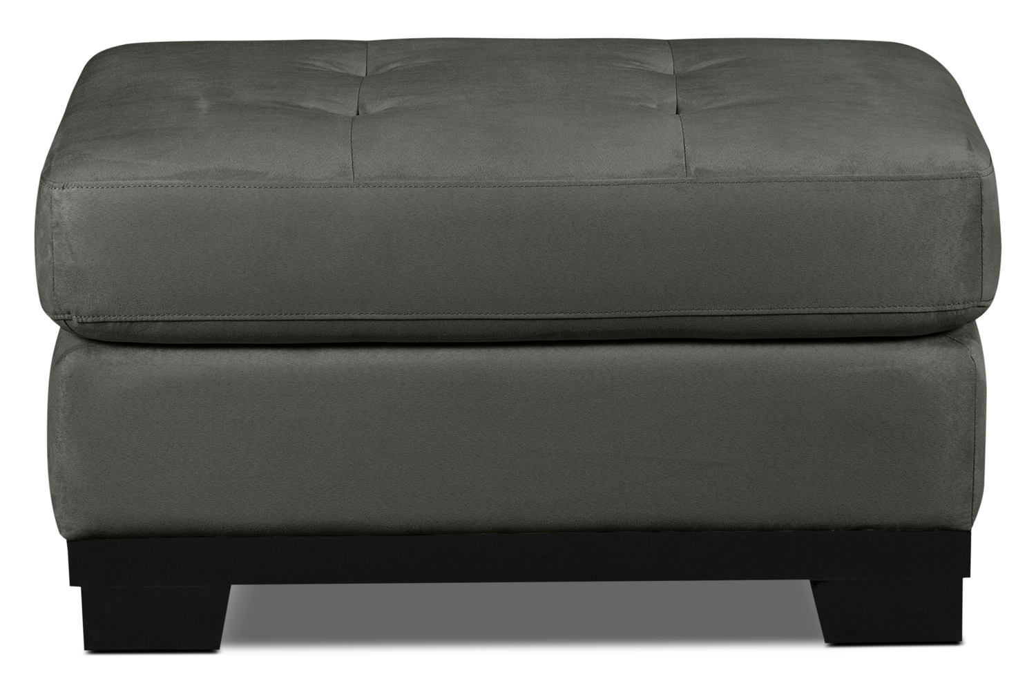 Living Room Furniture - Oakdale Microsuede Ottoman – Grey