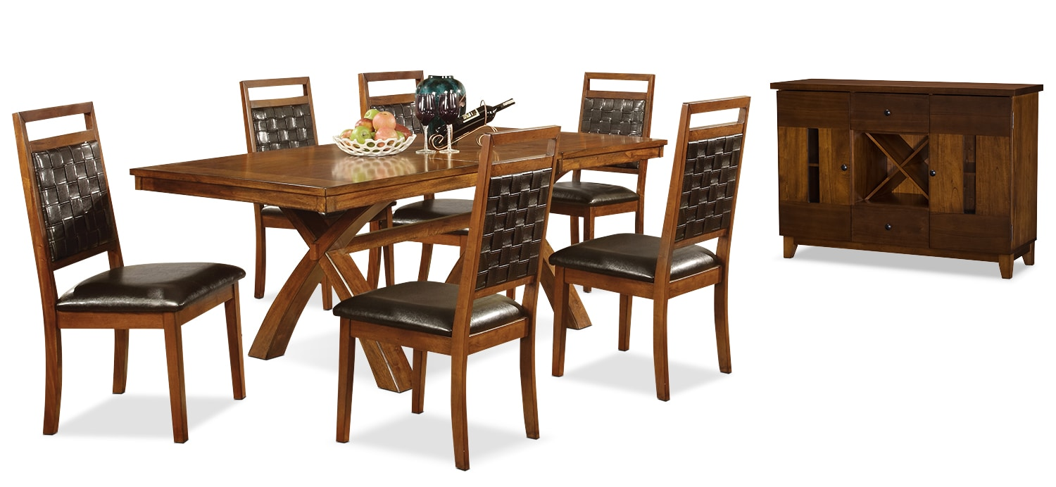 Dining Room Furniture - Mindy 8-Piece Dining Package